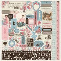 "Stitches Cardstock Stickers 12""X12"" NOTM381200"