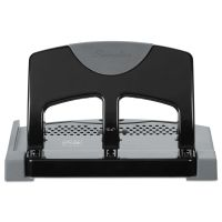 "Swingline 45-Sheet SmartTouch Three-Hole Punch, 9/32"" Holes, Black/Gray SWI74136"