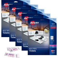 Avery Printable Tickets with Tear-Away Stubs AVE16154CT