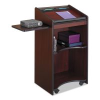 Safco Executive Mobile Lectern, 25-1/4w x 19-3/4d x 46h, Mahogany SAF8918MH