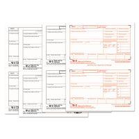 TOPS W-2 Tax Forms, 4-Part, 5 1/2 x 8 1/2, Inkjet/Laser, 50 W-2s & 1 W-3 TOP22990
