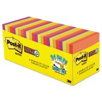 Post-it Notes Super Sticky Pads in Marrakesh Colors, 3 x 3, 70-Sheet, 24/Pack MMM65424SSANCP