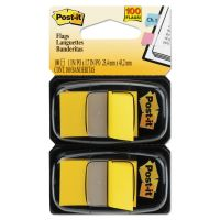 Post-it Flags Standard Page Flags in Dispenser, Yellow, 100 Flags/Dispenser MMM680YW2