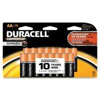 Duracell CopperTop Alkaline Batteries, AA, 16/PK DURMN1500B16Z