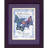 Dimensions Jiffy Today Is A Gift Mini Stamped Cross Stitch Kit NOTM247199