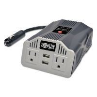 Tripp Lite 400W AC Inverter with USB Charging; 2 Outlets, 2 USB Ports, Silver TRPPV400USB