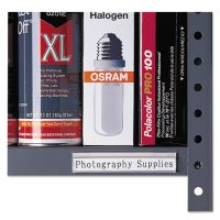 C-Line Shelf Labeling Strips, Side Load, 4 x 7/8, Clear, 10/Box CLI87447