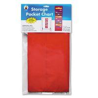 Carson-Dellosa Publishing Storage Pocket Chart with 10 13 1/2 x 7 Pockets, Hanger Grommets, 14 x 47 CDPCD5653