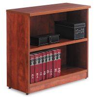 Alera Valencia Series Bookcase, Two-Shelf, 31 3/4w x 14d x 29 1/2h, Med Cherry ALEVA633032MC