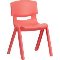 Flash Furniture Plastic Stacking School Chair  FHFYUYCX004REDGG