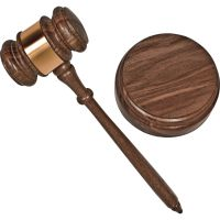 Advantus Brass Engraved Gavel Set AVT60001