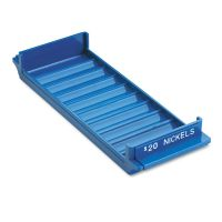 MMF Industries Porta-Count System Rolled Coin Plastic Storage Tray, Blue MMF212080508