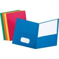 Oxford Twin-Pocket Folder, 100-Sheet Capacity, Assorted Colors, 25/Box OXF57513