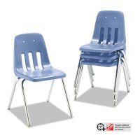 "Virco 9000 Series Classroom Chair, 18"" Seat Height, Blueberry/Chrome, 4/Carton VIR901840"