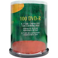 Compucessory DVD Recordable Media - DVD-R - 16x - 4.70 GB - 100 Pack CCS72103