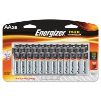 Energizer MAX Alkaline Batteries, AA, 36 Batteries/Pack EVEE91SBP36H