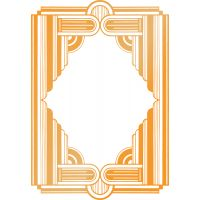 """Ultimate Crafts The Ritz Hotfoil Plate 3.2""""X4.6"""" NOTM041444"""