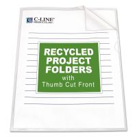 C-Line Project Folders, Jacket, Letter, Poly, Clear, 25/Box CLI62127