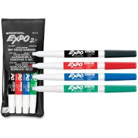 EXPO Low Odor Dry Erase Marker, Fine Point, Assorted, 4/Set SAN86074