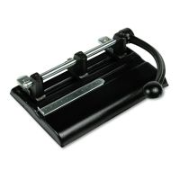 """Master 40-Sheet Lever Action Two- to Seven-Hole Punch, 13/32"""" Holes, Black MAT1340PB"""