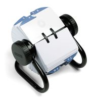 Rolodex Open Rotary Card File Holds 500 2-1/4 x 4 Cards, Black ROL66704
