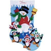 Penguin Party Stocking Felt Applique Kit NOTM051041