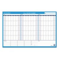 AT-A-GLANCE 90/120-Day Undated Horizontal Erasable Wall Planner, 36 x 24, White/Blue, AAGPM23928