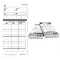 uPunch Time Card for uPunch, HN2000, HN4000, HN4600 Bundle, 100/Pk PPZHNTCL2100
