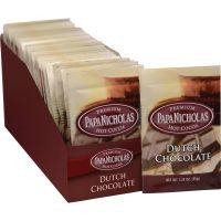PapaNicholas Coffee Premium Hot Cocoa, Dutch Chocolate, 24/Carton PCO79224