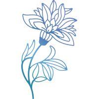 "Ultimate Crafts Bohemian Bouquet Hotfoil Stamp 2.1""X3.8"" NOTM283938"