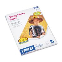 Epson Glossy Photo Paper, 52 lbs., Glossy, 8-1/2 x 11, 50 Sheets/Pack EPSS041649