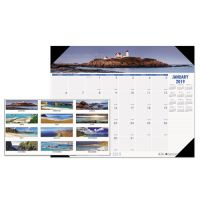 House of Doolittle Recycled Coastlines Photographic Monthly Desk Pad Calendar, 22 x 17, 2019 HOD178