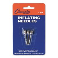 Champion Sports Nickel-Plated Inflating Needles for Electric Inflating Pump, 3/Pack CSIINB