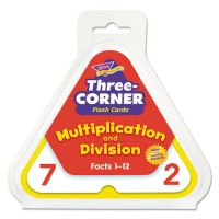 TREND Multiplication/Division Three-Corner Flash Cards, 8 & Up, 48/Set TEPT1671