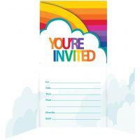 Rainbow Invitation 8/Pkg NOTM446762