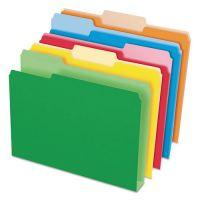 Pendaflex Double Stuff File Folders, 1/3 Cut, Letter, Assorted, 50/Pack PFX54460