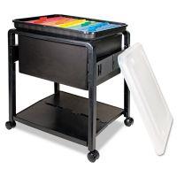 Advantus Folding Mobile File Cart, 14-1/2w x 18-1/2d x 21-3/4h, Clear/Black AVT55758