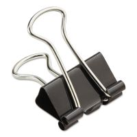 "Universal Small Binder Clips, Zip-Seal Bag, 3/8"" Capacity, 3/4"" Wide, Black, 144/Bag UNV10200VP"