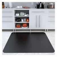 Deflecto Black Hard Floor Chair Mat DEFCM21442FBLKCOM