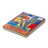 Pacon Array Card Stock, 65 lb., Letter, Assorted Bright Colors, 100 Sheets/Pack PAC101169