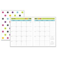 Blue Sky Teacher Dots Academic Year Monthly Planner, 8 1/2 x 11, Assorted Color Dots BLS100336