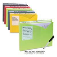 "C-Line Write-On Expanding Poly File Folders, 1"" Exp., Letter, Assorted Colors, 10/BX CLI63160"