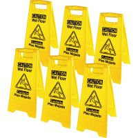 Genuine Joe Universal Graphic Wet Floor Sign GJO85117CT