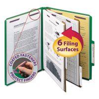 Smead Pressboard Classification Folders, Letter, Six-Section, Green, 10/Box SMD14033