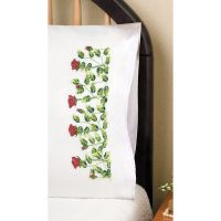 """Stamped Pillowcase Pair For Embroidery 20""""X30"""" NOTM051052"""