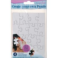 "Create Your Own Puzzle 16 Pieces 4""X5"" 4/Pkg NOTM472706"