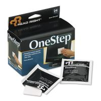 Read Right OneStep Screen Cleaner, 5 x 5, 24/Box REARR1209