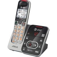 AT&T CRL32102 DECT 6.0 Expandable Cordless Phone with Answering System and Caller ID/Call Waiting, Silver/Black, 1 Handset ATTCRL32102