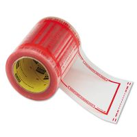 "Scotch Pouch Tape, 5"" x 6"", Transparent w/Orange Border, 500/Roll MMM82405"