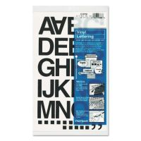"""Chartpak Press-On Vinyl Letters & Numbers, Self Adhesive, Black, 1 1/2""""h, 37/Pack CHA01040"""